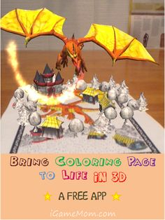 Bring coloring page to life in 3D with this free app #kidsapps #art #creativity