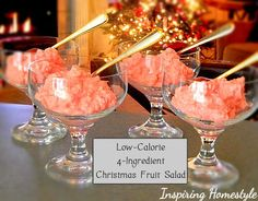 fruit salads, yummi christma, low calori, easter treats, christma fruit, dessert