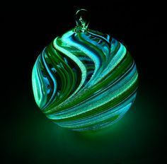 Glow in the Dark Glass Ornament