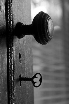 doorknob and key