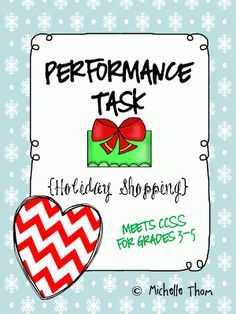 Holiday shopping performance task Freebie!