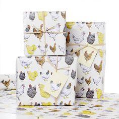 chicken gift wrap by julia davey ceramics | notonthehighstreet.com