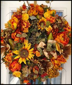 Tuscany. Tuscan Wreath. Decorative Wreaths by Petal Pusher's Wreaths & Designs.