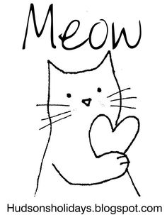 Meow! Cute embroidery pattern