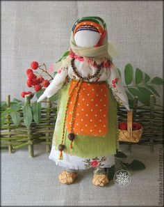 """Народные куклы ручной работы. Ярмарка Мастеров - ручная работа """"Рябинка"""". Handmade."""