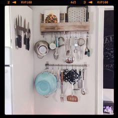 Julia Child inspired kitchen wall