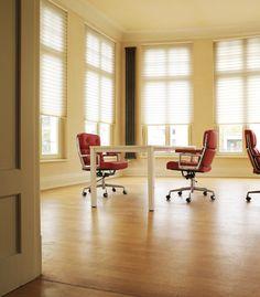 offic window, pleat shade, office designs, offic design, room idea, confer room
