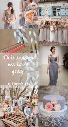 fall wedding color ideas - grey wedding ideas