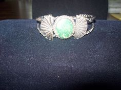 Vintage Silver and Turquoise Bracelet by vintagecitypast on Etsy, $90.00