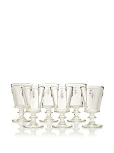 La Rochère Set of 6 Bee Décor Footed Water Goblets at MYHABIT