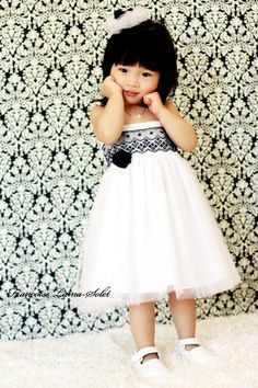 Cute white dress-like the use of lace over the top