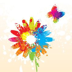 """#Colorful #Summer #Flower"", #vector #graphic by DryIcons.com - available with Free, Commercial and Extended License."