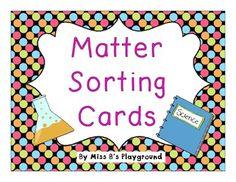 Matter Sorting Cards {{Freebie}}