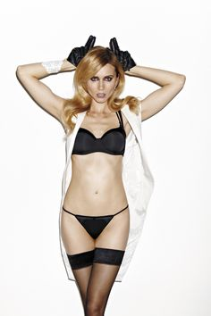Fall|Winter 2012 - Afterglow Black Satin  Bras from € 89.95 Bottoms from € 37.95