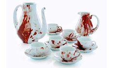 tea time, tea sets, dexter, zombie party, teaset