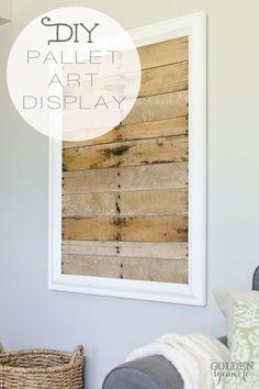 DIY Pallet Art Displ