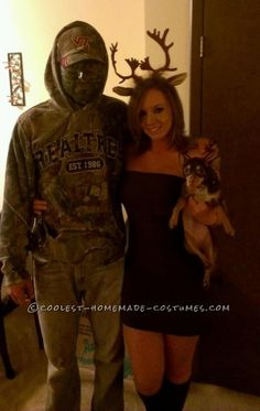 Unique and Easy Hunter and Deer Couple Halloween Costume ...This website is the Pinterest of costumes