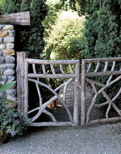 Gate modeled after Socia's twig-style furniture  - Country Living