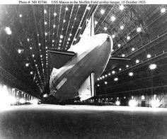 USS Macon in Hangar