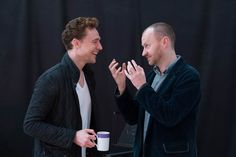 Tom Hiddleston (Coriolanus) and Mark Gatiss (Menenius)
