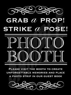 Wedding Photo Booth Sign. We can rent a photo booth for your upcoming Wedding!