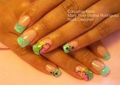 Hawaiians flowers by Coquetas_Nails - Nail Art Gallery nailartgallery.nailsmag.com by Nails Magazine www.nailsmag.com #nailart