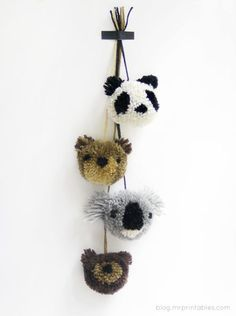 DIY kid bear crafts, idea, animals, pom poms, diy pompom, pompom craft, pompom tutori, diy anim, anim pompom