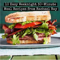 Get outta your cooking rut with 10 easy weeknight 30-minute meal ideas from Rachael Ray!