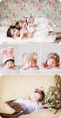 stacked kids and newborn portraits