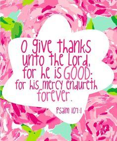 Psalm 107:1♡