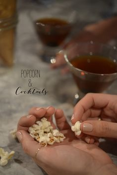 Entertaining Idea: Popcorn & Cocktails - Cupcakes and Cashmere