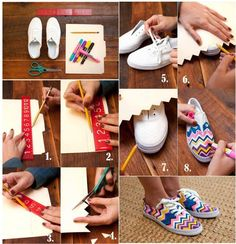 DIY Paint canvas shoes