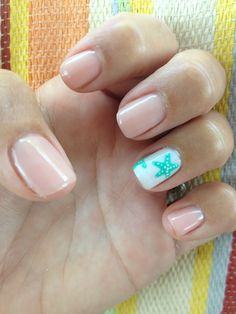 Starfish nails- beach nails-summer nails