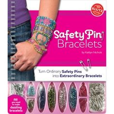 Safety Pin Bracelets helps anyone craft an entire collection of brilliant, sparkling jewelry out of garden-variety safety pins. The book includes 12 dazzling bracelet designs.