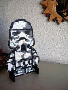 Star Wars Storm Trooper /  Perler Beads - Hama perlen - Bügelperlen