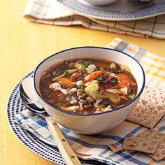 Vegetable-Lentil Soup #recipe