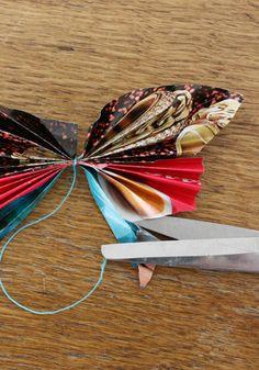 Basteln mit Papier: Schmetterlinge falten - basteln.co
