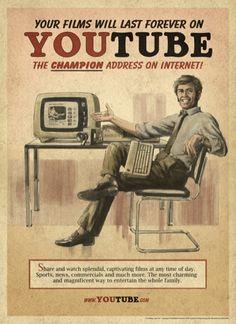 Anuncios Vintage de las redes sociales (YouTube)    http://www.trecebits.com/2012/02/24/anuncios-vintage-de-las-redes-sociales-fotogaleria/