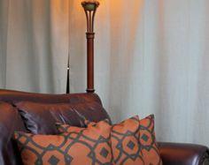 images of burnt orange firewood holder | ... Covers Geometric Pattern Black on Burnt Orange Mid Centrury Modern