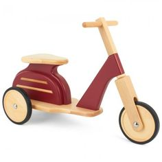 Moulin Roty Red Wooden Scooter kid toy, kiddi scooter, moulin roti, wooden scooter, babi toy, scooters, craft idea, wooden toy, red wooden