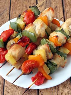 Baked Chicken Pineapple Kabobs