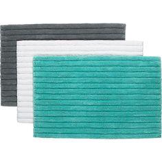 vertical stripe bath rugs in all bed/bath | CB2