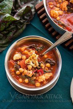 Roasted Cauliflower Tomato Soup #vegan and #lowfat!