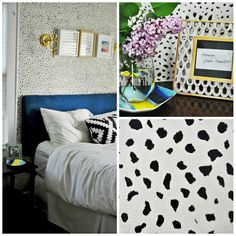 "glamorous ""wallpaper"" that's actually a DIY stencil"