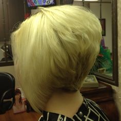 Fab stacked n layered inverted bob! Her color n my cut-great combo!!!