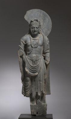 Bodhisattva, late 2nd Century Pakistan, Gandhara, Kushan Period (1st century-320)