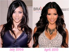 Many peoples are interested to see their favourite star's plastic surgery before and after face. Kim Kardashian is one of the sexiest and hottest star in Hollywood. She was born on October 21, 1980, in Los Angeles, California. She is widely known for her role on the E! reality series, Keeping Up with the Kardashians, and a sex tape with her former boyfriend Ray J. By plastic Surgery she has changed her nose, boobs, butts etc.Kim Kardashian before and after plastic surgery photosThe pho