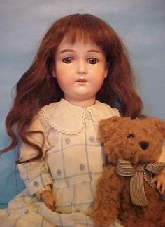 """22"""" old antique bisque head composition German Armand Marseille DOLLY FACE doll"""
