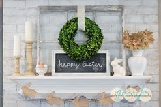 Easter Mantle, Spring Mantle, Girls with Pearls photography