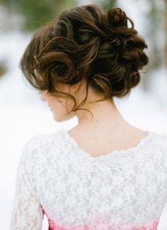 This hairstyle is perfect for beautiful, long curly hair.